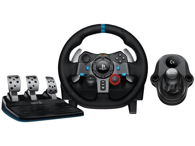refurbished logitech g29 driving force race wheel ps4 logi g driving force shifter bundle. Black Bedroom Furniture Sets. Home Design Ideas