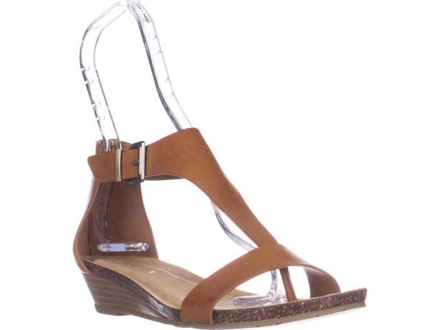 Kenneth Cole REACTION Great Sandales, Gal T Strap Wedge Sandales, Great Toffee, 5 US ... e6927a