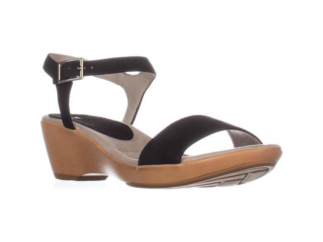 a66e18e1b White Mountain Corky Ankle Strap Wedge Sandals, Black, 7.5 US ...