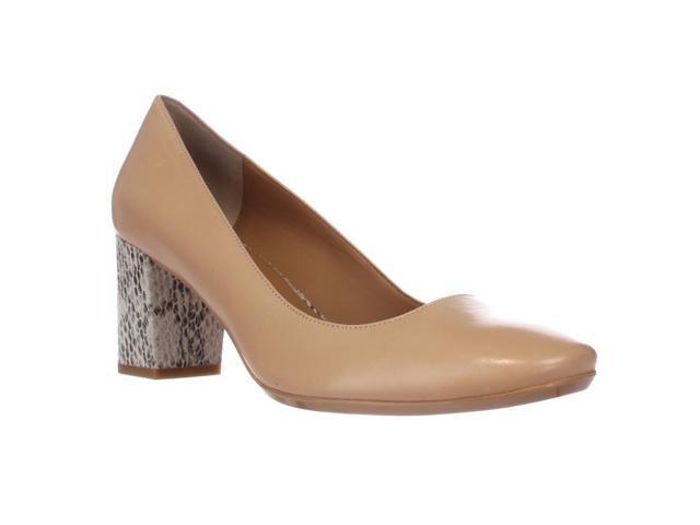 6e000ab49b Calvin Klein Cirilla Block Heel Pumps, Sandstorm, 9.5 US / 39.5 EU ...