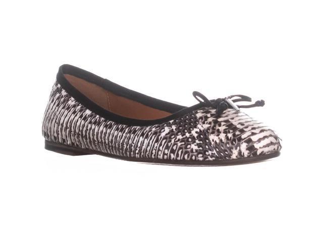 5a4bdb6bc4 Lola Ballet pisos, blanco y negro de piel de serpiente, 5.5 el entrenador  nos / 36 EU - Newegg.com