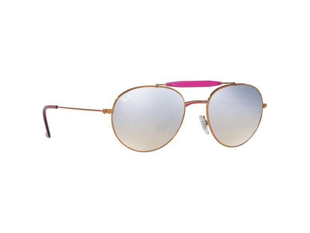 b7582d880a7 Ray-Ban RB3540 Aviator Silver Gradient Flash Round Shape Lens Bronze Copper  Sunglasses