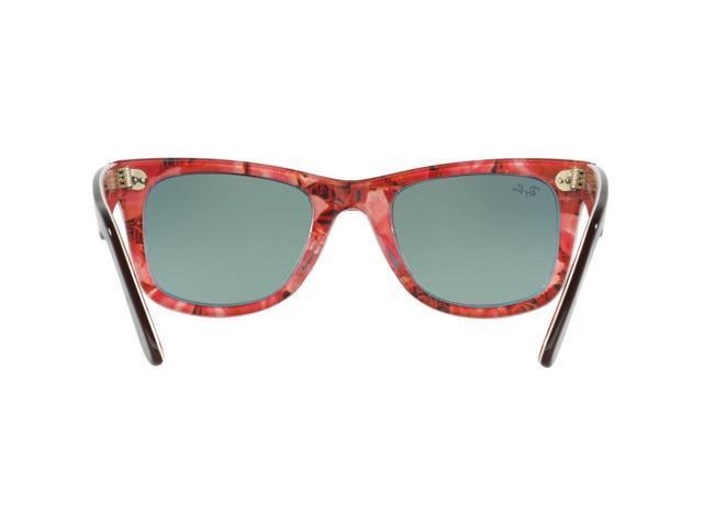 21ed3b61287d4 Ray-Ban Original Wayfarer Floral RB2140 12004W Orange Gradient Flash Lens  Sunglasses