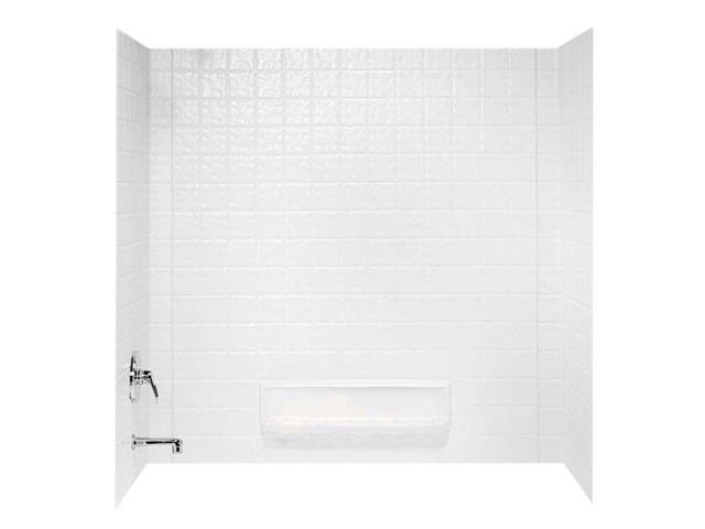 Swanstone TI-3-010 Veritek Three Panel Tub Wall Kit, White Finish ...