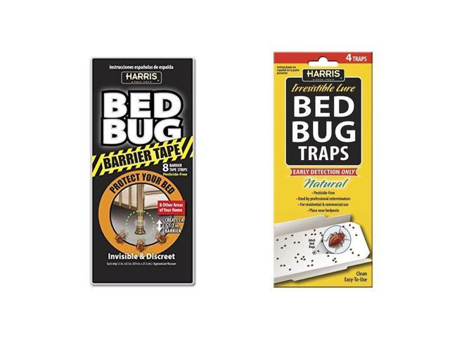 Harris Bed Bug Traps (4/Pack) with Harris Bed Bug Barrier Tape - Newegg com