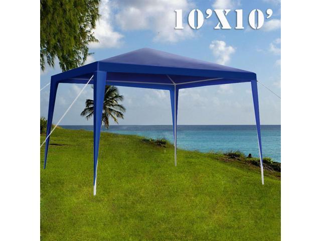 Lusana Studio 10 X Outdoor Gazebo Easy Up Canopy Kit Wedding Blue Party Tent