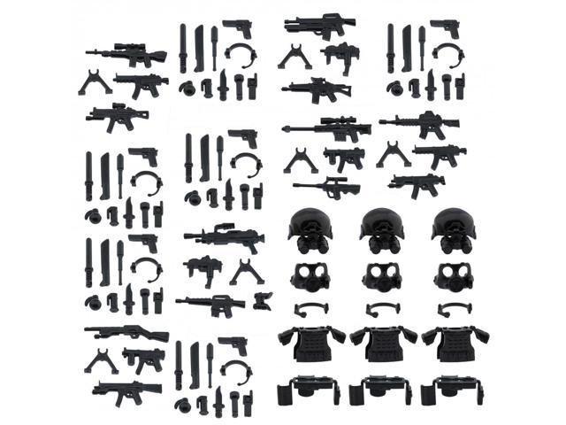 Custom Minifigures SWAT Armor Weapons Set Compatible w  Lego Sets Army  Minifigs 12fdd7997790
