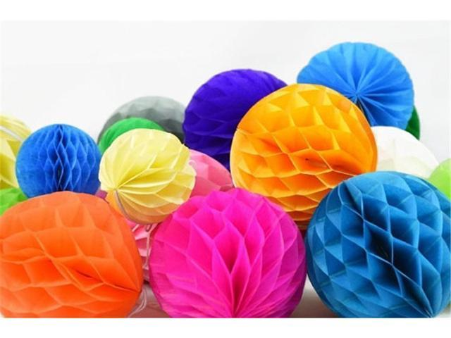 Life Glow Crafts 40pcs Tissue Honeycomb Ball Tissue Paper Flower Ball Tissue Paper Flowers Garland Pom Poms Craft Decoration Round Paper Lantern