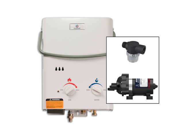eccotemp l5 portable outdoor tankless water heater w/ eccoflo