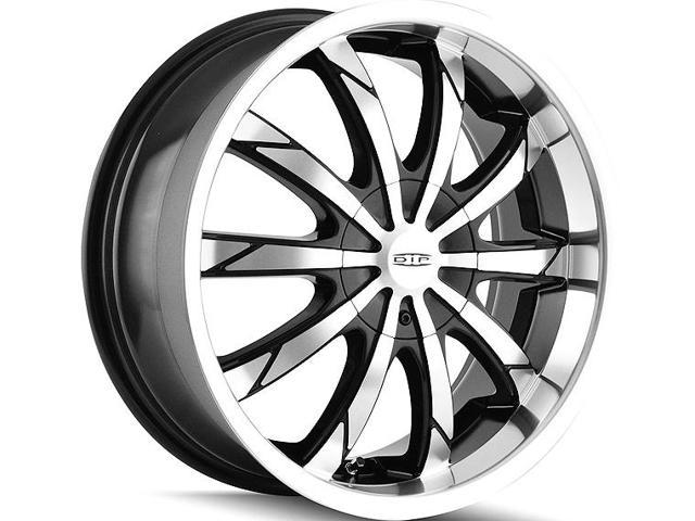 Dip D66 Slack 22x8 5x1125x120 35mm Blackmachined Wheel Rim