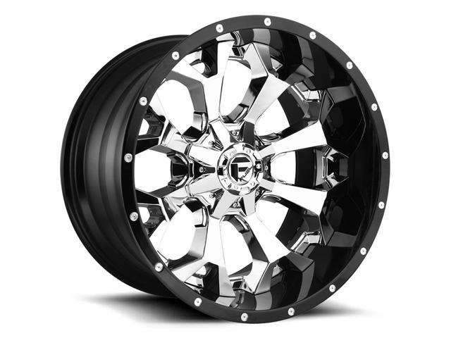 4 Fuel D246 Assault 20x10 6x1356x5 5 18mm Chromeblack Wheels