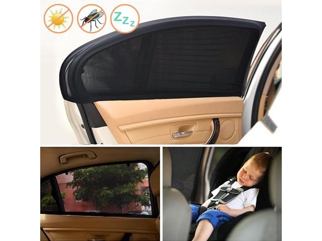 1 Set 2 Pieces Car Sun Shades Cover Car Window To Protect Your Baby From Sun Block Uv Rays Fit Full Size Cars Large Size Newegg Com