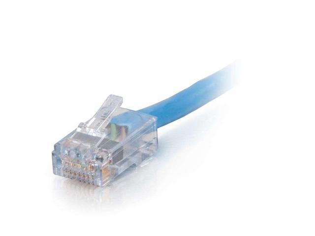 Lifetime Warranty 100ft Blue Non-Booted CAT6 Ethernet Patch Cable