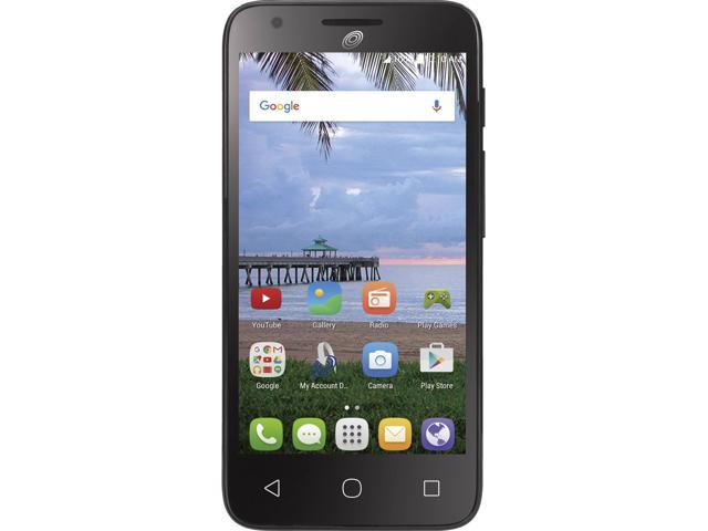 Net10 Alcatel Pixi Avion A570BL LTE GSM 8GB Prepaid phone Black (BLUE MAP)  - Newegg com