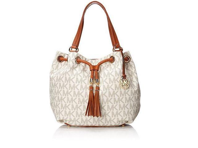 Michael Kors Handbag Jet Set Item Large Signature Tote Vanilla 30s7gttt7b 150