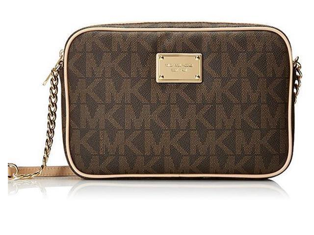 42c757a5e6 MICHAEL MICHAEL KORS Jet Set Medium Logo Crossbody