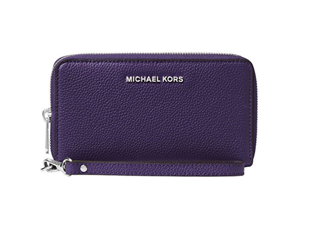 a4dbfacbeba5 MICHAEL Michael Kors KORS STUDIO Large Flat Phone Case Wristlet IRIS  32F6SM9E3L-535