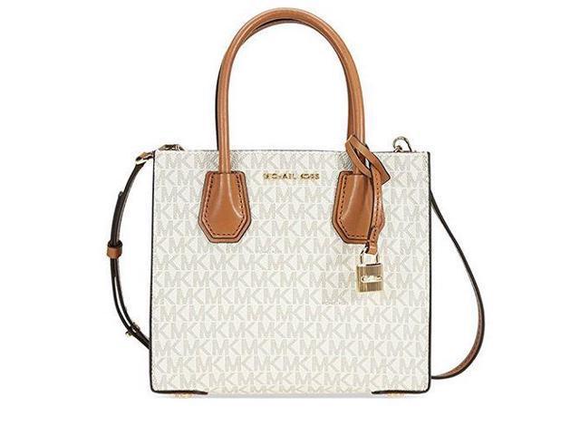 68fc50f1b726 Michael Kors Mercer Signature Messenger Bag - Vanilla 30T7GM9M8V-150 ...