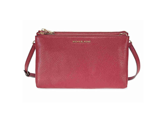 a00e4ff3c9b4 Michael Kors Adele Double Zip Crossbody - Mulberry - Newegg.com