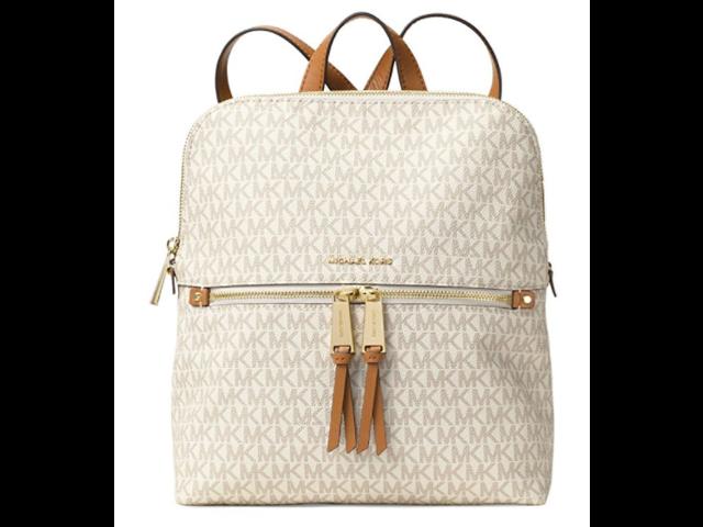1751a47fd762 MICHAEL Michael Kors Rhea Medium Slim Backpack (Signature Vanilla ...