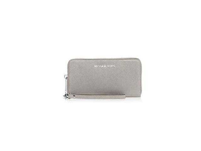 156c6f6ba98d MICHAEL Michael Kors Jet Set Travel Large Flat Multifunction Phone Case in  Pearl Grey 32H4STVE9L-