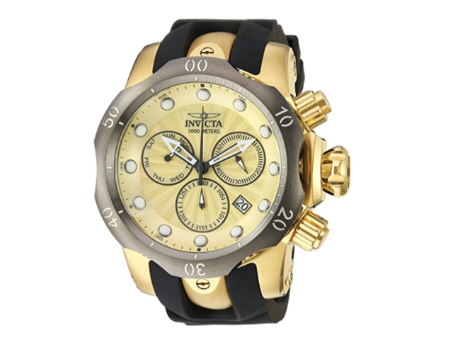 f607d6487 Invicta Men's 24258 Venom Quartz Chronograph Gold Dial Watch ...