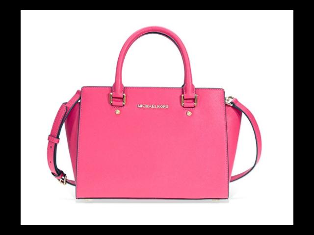 bfe250f999f2 Michael Kors Selma Medium Leather Satchel - Ultra Pink 30S3GLMS2L ...