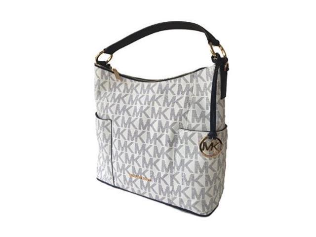 bae1d92b751f Michael Kors Anita Large Convertible Shoulder Bag Navy White 35H7GA8L7B