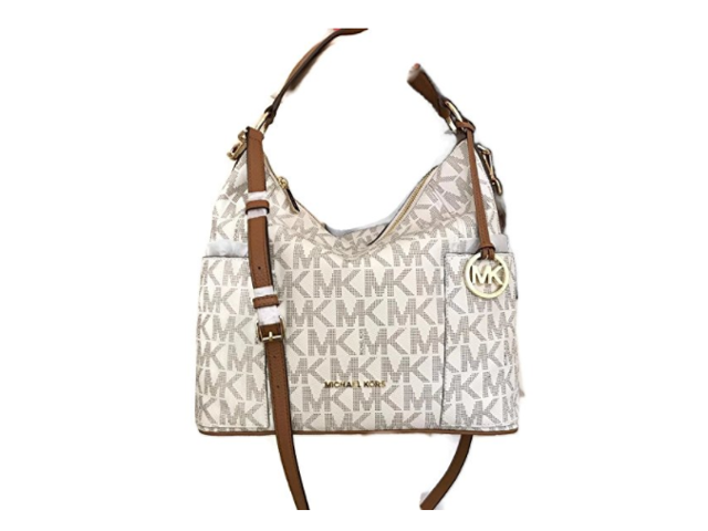 0a2013d5e653 Michael Kors Anita Large Convertible Shoulder Bag (Vanilla) 35H7GA8L7B-150