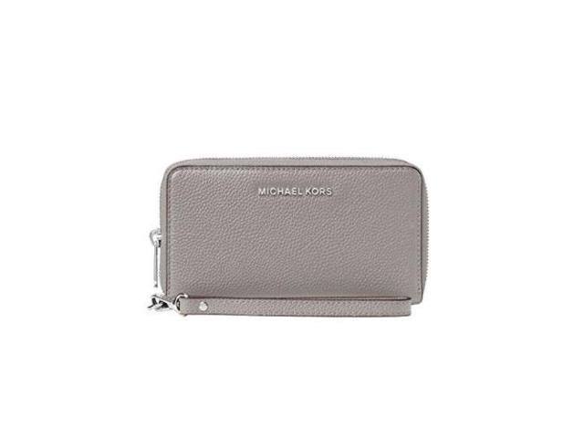 fff1b3757ac4 MICHAEL Michael Kors KORS STUDIO Large Flat Phone Case Wristlet Pearl Gray  32F6SM9E3L-081