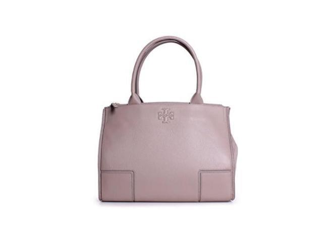 b0f7b0b2881 Tory Burch Ella Canvas and Leather Tote - French Gray 41159500-036
