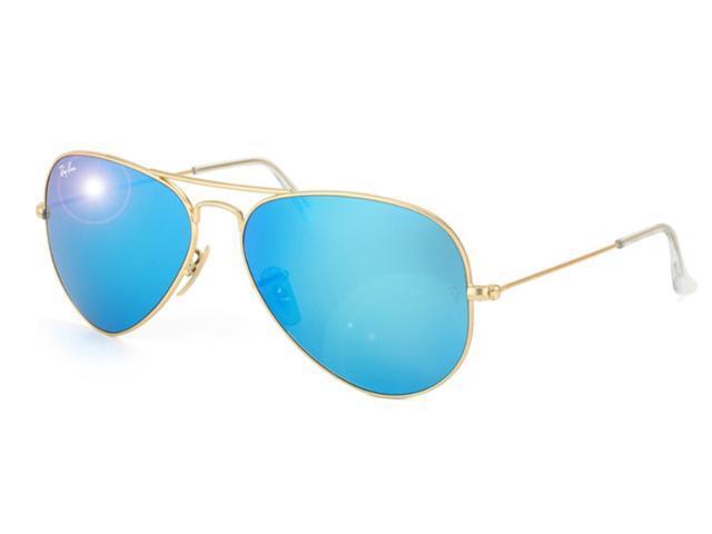 02e55de40755b RAY BAN RB3025-112 17 Original Aviator 55MM Mirror Sunglasses - Gold Blue