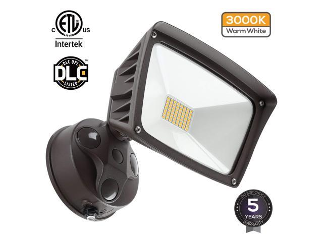 LEONLITE 28W Dusk-to-dawn LED Outdoor Flood Light (Photocell Included),  3400lm Ultra-bright Waterproof Security light, 3000K - Newegg com