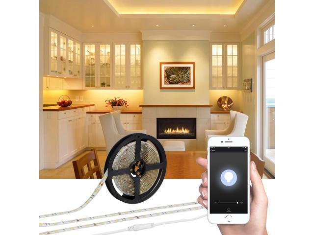 Litedge 16 4ft Led Wifi Strip Light Compatible With Amazon Alexa Warm White Ip65 Waterproof Rating 36w Lighting Kit Ul Listed Newegg Com