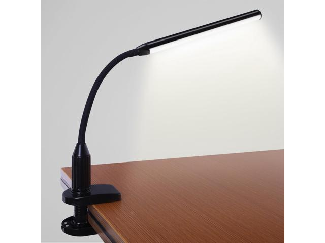 LED Clamp Desk Lamp, Fully Dimmable, Neutral Eye Friendly Study Light,  Touch Sensitive Control, 360° Flexible Gooseneck, Memory Function, USB  Charger + AC ...