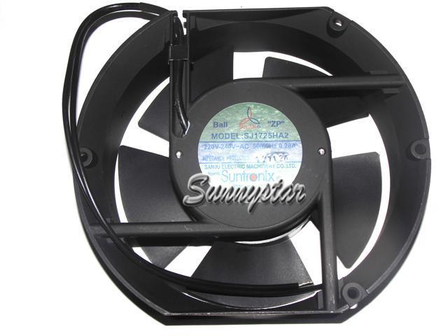 SANJU 172*51mm SJ1725HA2 220~240 50/60Hz 0 28A 2 Wires ball bearing AC Fan  for UPS cabinet inverter cooler - Newegg com