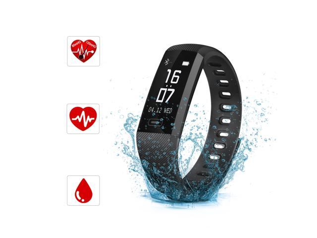 SAVFY Fitness Tracker, IP67 Waterproof Activity Tracker Blood Pressure &  Oxygen Monitor Heart Rate Monitor Sports Wristband for Android IOS -