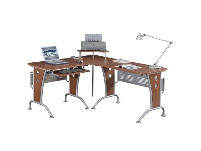 Etonnant Techni Mobili RTA 3806 M615 L Shaped Computer Desk   Mahogany