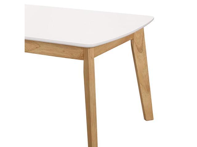 Walker Edison C40ctrmwnl Retro Modern Coffee Table White Natural