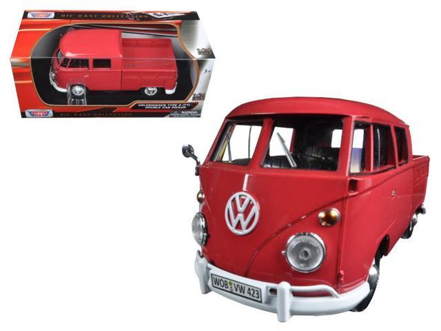 847383d30c Motormax 79343R 1 by 24 Volkswagen T1 Double Cab Pickup Truck Wax Diecast  Model Car -