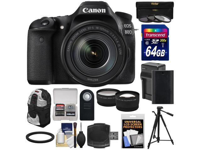 Canon Eos 80d Wi Fi Digital Slr Camera 18 135mm Is Usm Lens With