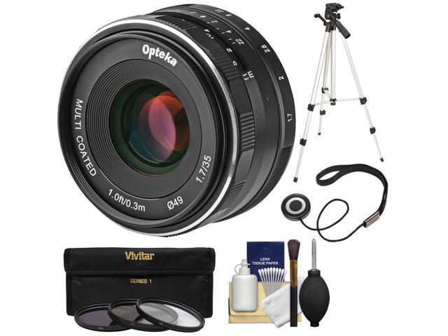 Opteka 35mm f/1 7 HD MF Prime Lens with 3 Filters + Tripod Kit for Olympus  OM-D, PEN & Panasonic LUMIX Micro 4/3 Digital Cameras - Newegg com