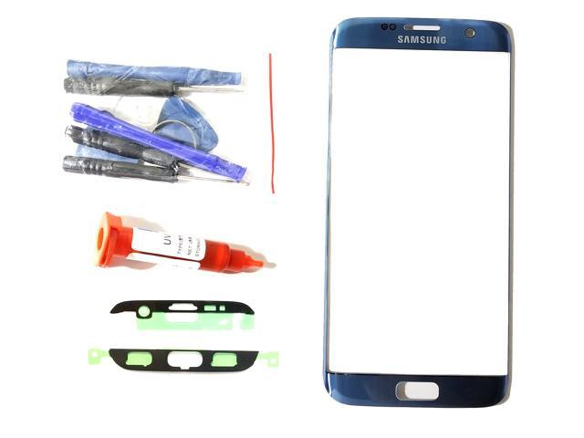 f3b5441c876 Samsung Galaxy S7 Edge OEM Coral Blue Front Outer Glass Lens Screen  Replacement For G935 with UV LOCA Glue Adhesive and Tool (LCD & Digitizer  not included)