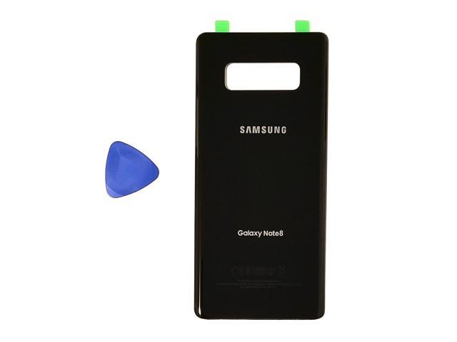 Samsung Galaxy Note 8 OEM Midnight Black Rear Back Glass Lens Battery Door  Housing Cover +