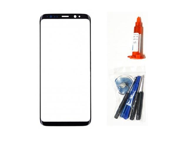 oem samsung galaxy s8 plus black front outer glass lens screen adhesive tools uv loca glue lcd