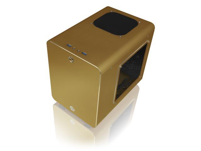 RAIJINTEK METIS PLUS GOLD, a Alu. M-ITX Case, is with one 12025 LED fan at rear, USB 3.0* 2, Ventilate holes at top, Compatible with Standard ATX PSU, 170mm VGA Card length, 160mm CPU Cooler height.