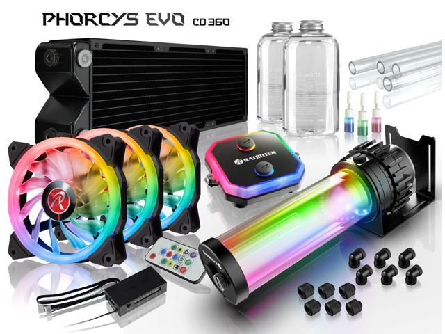 PHORCYS EVO CD360, a full Water Cooling Kit, including  copper water block, 65mm copper 360 radiator, D5 level pump, is a top premium quality water cooling total solution for gaming PC and enthusiasm