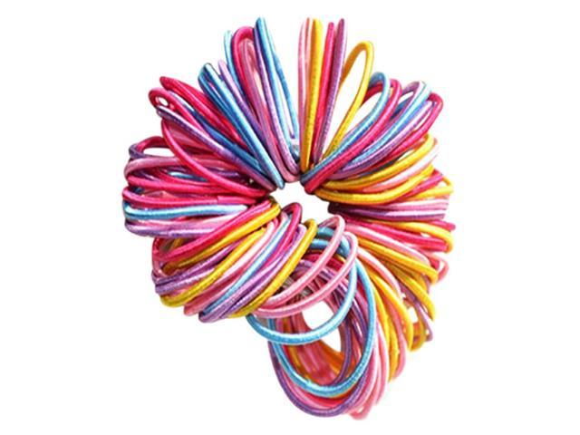 SODIAL 100 Pcs Mixed Baby Kids Girl Elastic Tiny Hair Tie Band Rope Ring  Ponytail Holder e97c3ecd0d7