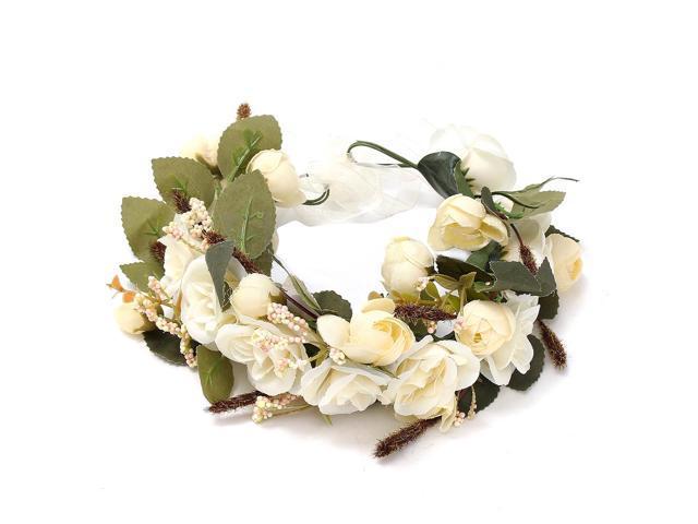 Sodial Floral Garlands Headband Women Wedding Flower Wreath Bohemia