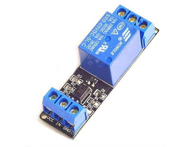 SODIAL 1x relay module optocoupler isolation module low voltage control  high voltage 5V - Newegg com